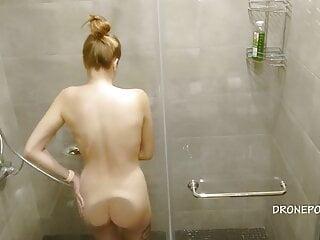 Czech blond girl Amanda in the shower