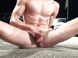 Naked Cum in front of Audi Dealership