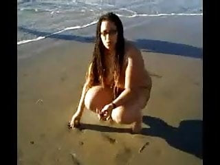 naked on the beach...
