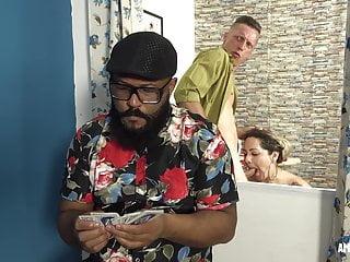 Unfaithful wife sucks the sperm from her husband...