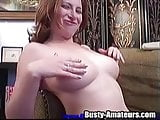 Shaved pussy of Ginger is in the center of attention