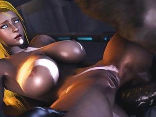 Samus Aran Fucks Huge Dick Monster
