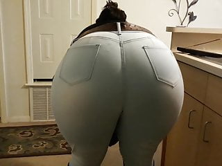 Jeans and boots – big booty bend over.