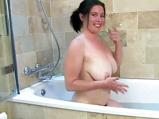 Janey in the bath naked and very hairy