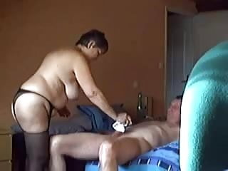 My old aunt love a cock