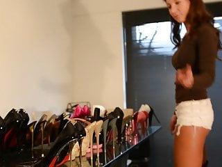 presenting my high heels: dirty shoes inside: teen