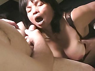 cock Asian a white  and masturbates sucks MILF Amateur
