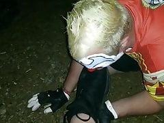 Clown Worshiping Size 12 Muddy Shoes