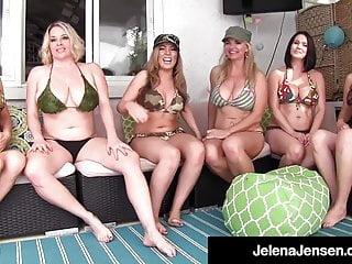 Penthouse Pet Jelena Jensen Has Smoking Hot 6 Girl Orgy