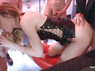 wife suck stranger dicks while husband fuck her in barPorn Videos