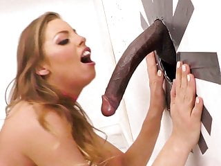 Britney amber tries interracial at a gloryhole...