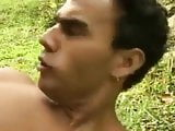 Muscled Latin Fucking Outdoor