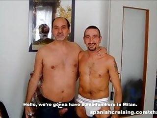 Horny daddies barebacking...