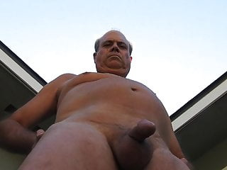 patio back over peeing A all daddy naked his