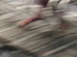 Sexy arab yoga pants running...