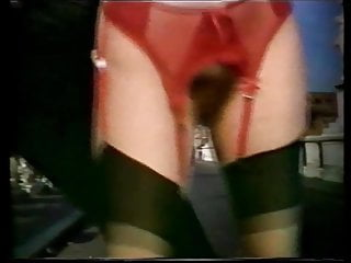 Silly vintage CMNF lingerie strip dance