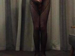 Amateur video of me masterbating in full body stockings