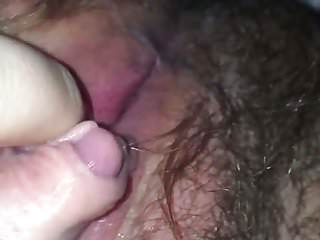 Hairy ftm huge clit first ever...