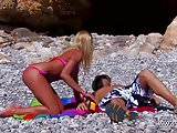 MyFirstPublic - Pierced blonde extremely hard ass fucked