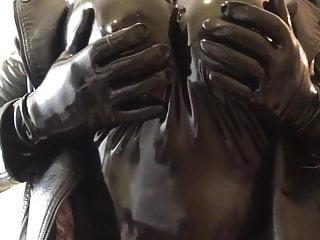 Squeezing boobs...
