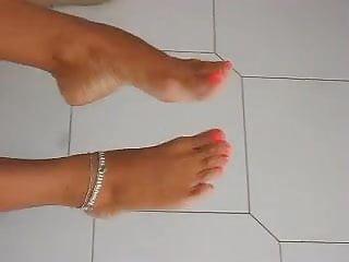 Feet of a friend