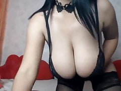Bianca in beautiful black lingerie
