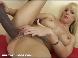 Busty blonde riding...