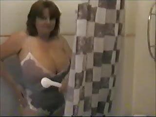 Toni takes a shower