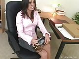 Hot Secretary Fucks The Pizza Guy On Her Desk
