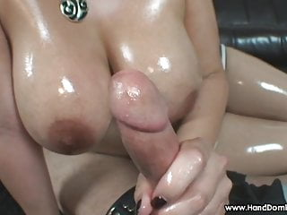 hot wife enjoys another mans much larger cock during handjob