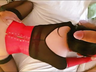 Another sissy vs big cocks...