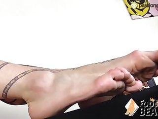 Tattoed girl feet POV