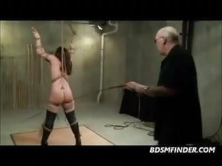 Bound to Bamboo And Getting A Hard Caning