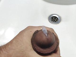 Close up orgasm cumshot
