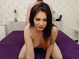 Hot Pretty brunete Chick Loves Show and fuck