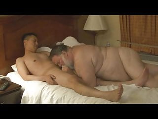 Chaser fucks a sexy hairy chubby daddy...