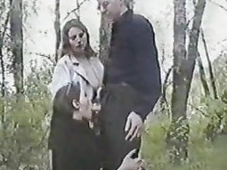 Russian teens in the forest