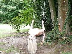 nude woman swing
