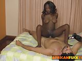 Slutty ebony chick is banged in multiple positions