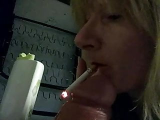 Smoking fetish dildo bj a milf I fuck
