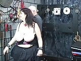 BBW with huge udders given electro shock by old fat bastard