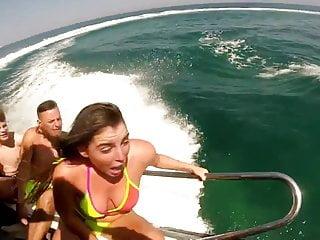 Oops nipslip speedboat!