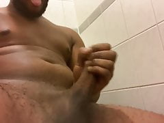 Young bbc shooting cum in ladies restroom