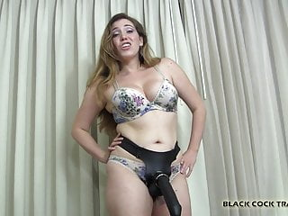 You will be ready for real cock after this big strapon