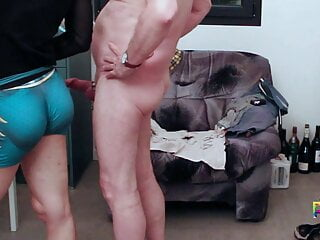 Androgynous sissy twink met daddy and sucked his old cock
