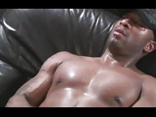 Black thug masturbates and fucked white ass...