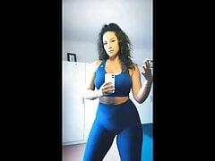 Charlotte Namura (tv host) spandex leggings haul instagram