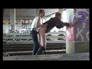 Strapon Femdom Flashing video: public femdom strapon