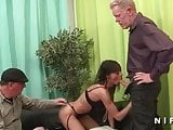 Anal casting of a skinny mature in lingerie
