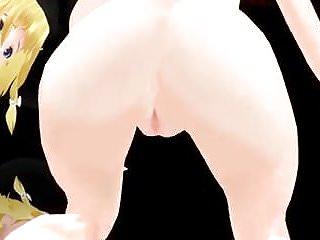 Touhou Reimu Marisa R-18 Alice MMD
